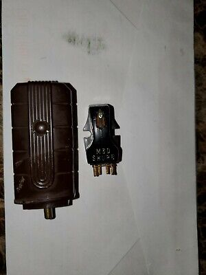Vintage Shure M3D Cartridge with sharp needle and magnavox headshell