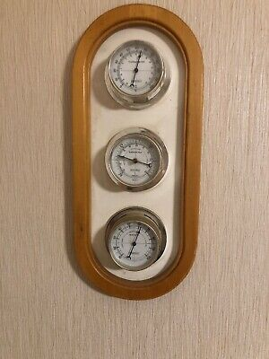 "Springfield Thermometer Barometer Humidity Wood Wall Hanging 7.5""x16.5"""