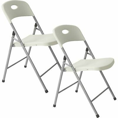 Ironton Plastic Folding Chairs - 2-Pack