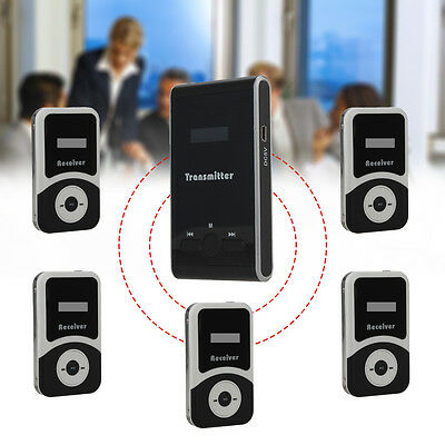 ATG100 Meeting Tourism Teach Guide Wireless Transmitter+5 Receivers W/ Earpieces