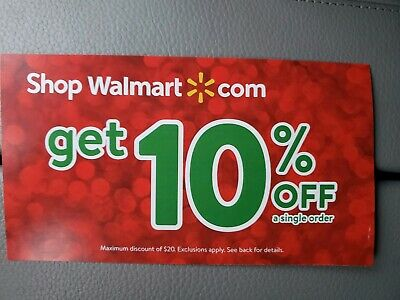 Walmart.com 10% Off Coupon Max $20 off discount expr on Jan 15th (1 hr delivery)
