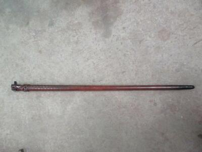Walking stick, folk art, fist end with fish scales, antique, stunning