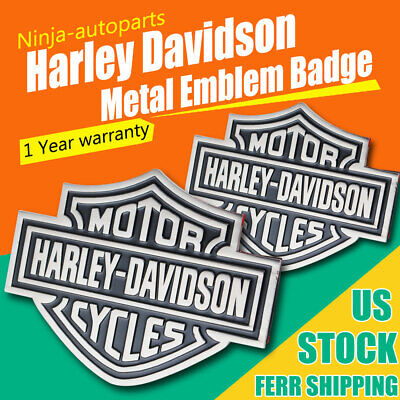 2PCS For Harley Davidson Style Metal Motorcycle Fuel Tank Emblem Decal FAST SHIP