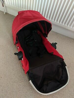 Baby Jogger City Select Second Seat, Hood & Harness. Red & Black. Replacement.