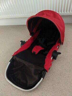 Baby Jogger City Select Second Seat, Hood & Harness. Red & Black. Replacement