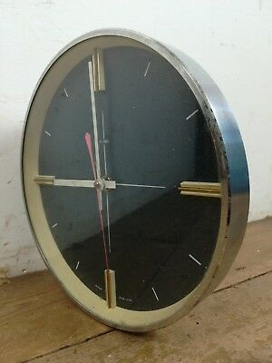 Vintage Metamec wall clock retro 1960s