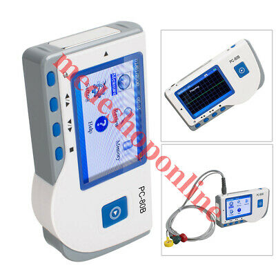 CE Color LCD Mini Handheld ECG/EKG Machine Heart Monitor+Cable Medical Use
