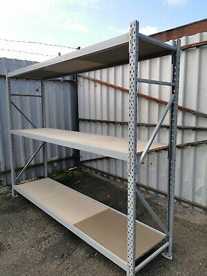 2 Lev. Additional Bay Container Racking Storage Shelving Warehouse Shelve Garage
