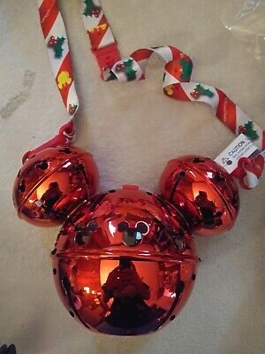 Disney 2019 Light Up Mickey Mouse Jingle Bell Light Up Sipper Cup Christmas NEW