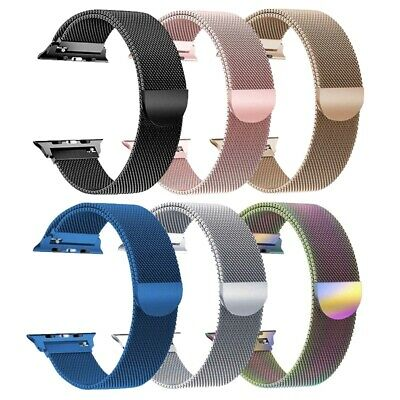 38/40/42/44mm Magnetic Milanese Loop Band Strap For Apple Watch Series 5/4/3/2/1