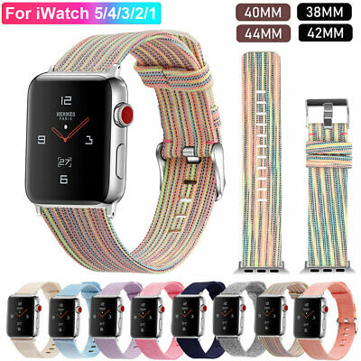 For Apple Watch Series 5 4 3 Band Strap iWatch 38 40 42 44mm Fabric Canvas Bands