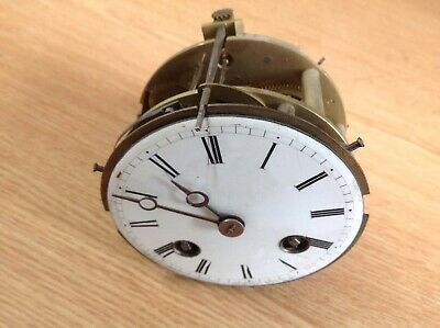 Antique  French Clock Movement Japy Freres 1855 Frame Dial Good Bell Aperture 80