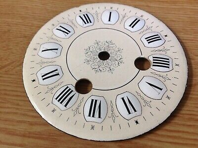 Antique French Clock Dial Face Ceramic Enamel   100mm Ex Clockmakers Spare Parts