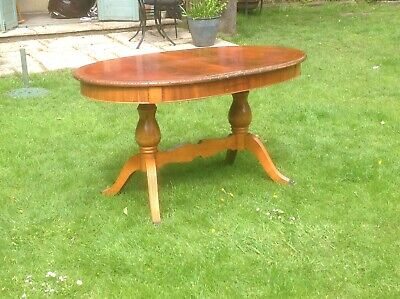 victorian reproduction mahogany extending dining table, seats 6