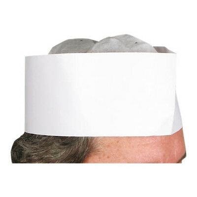 Winco DCH-3, 3-Inch Height Chefs Hat, 100/CS
