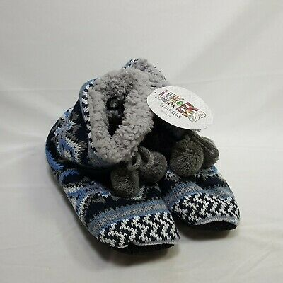 Muk Luks Womens House Shoes Slippers Small 5 7 Blue Aztec Very Soft NWT