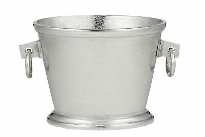 NEW Soc Home Ellison Metal Watertight Oval Beverage Cooler/Bucket Silver 20x33cm