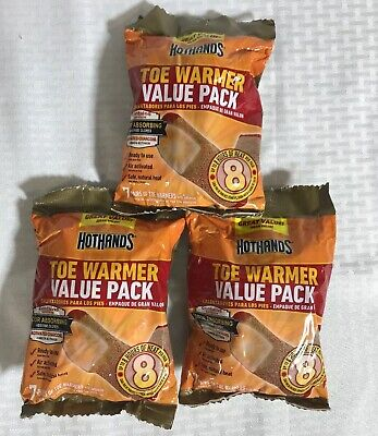 HotHands Toe Warmer Value Pack Up To 8 Hrs Per Warmer Lot of 3 Packs of 7 Pairs