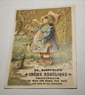 Antique Early Pre 1900's Adv Trade Card - Dr Sheffield's Creme Angelique NY