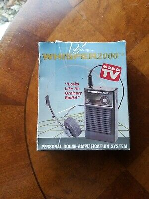 Amazing Whisper 2000 TM Personal Sound Amplification System in Box Tested