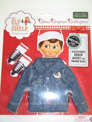 The Elf On The Shelf Claus Couture Clothes Denim Jacket And Socks