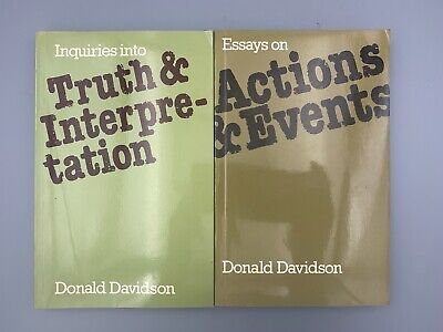 Inquiries into Truth and Interpretation + Actions & Events by Donald Davidson