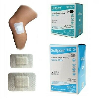 Softpore Adhesive Sterile Dressings - First Aid Plasters Cuts & Wounds, Burns