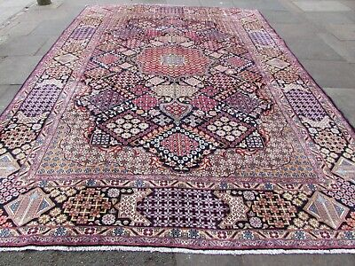 Vintage Hand Made Traditional Rugs Oriental Wool Blue Large Carpet 396x283cm