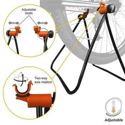 Indoor Bike Trainer Portable Exercise Bicycle Foldable Roller Stand 14*53*84cm