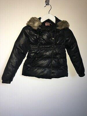 Juicy Couture Coat Age 12 Years Back Down And Feather Filled