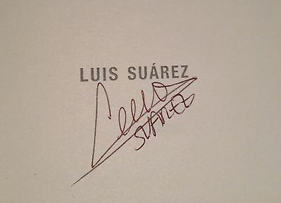 Hand Signed Book LUIS SUAREZ - Crossing The Line - LIVERPOOL BARCELONA + my COA