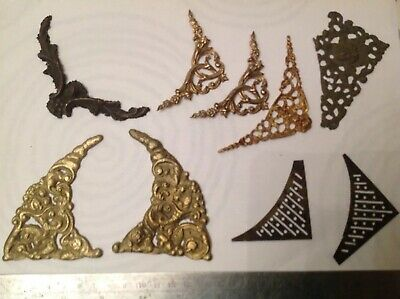Antique Spandrels Embellishments Brass From Clockmakers Spare Parts Collection