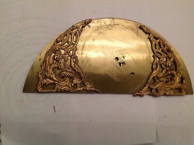 Antique Longcase Arched Dial & Embellishments Clockmakers Spare Parts 252x110mm