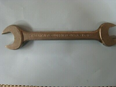 """BARCALO - Buffalo U.S.A. Double Open End Wrench, Sizes 15/16"""" And 1"""" USED"""
