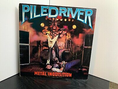 Piledriver Metal Inquistion Vinyl Record 1985 Rare OOP Hard to Find