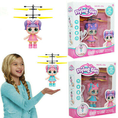 Hot! Flying Girls Surprise Doll Magic Infrared Induction Control Toys Xmas Gifts