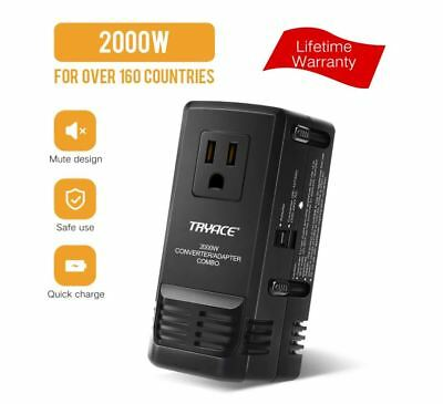 2019 Upgraded All-in One 2000W Travel Adapter, International Power Adapters