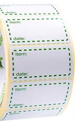 100 x FREEZER LABELS 50mm x 25mm  LABELS WITH EASY TEAR PERFORATIONS