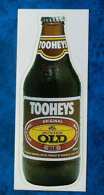TOOHEYS Hunter Old Ale ..  Original Vintage  1980,s  Pub  Beer Fridge sticker