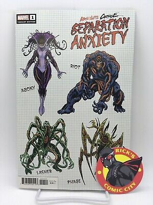 ABSOLUTE CARNAGE SEPARATION ANXIETY #1 BRIAN LEVEL DESIGN VARIANT Marvel Comics