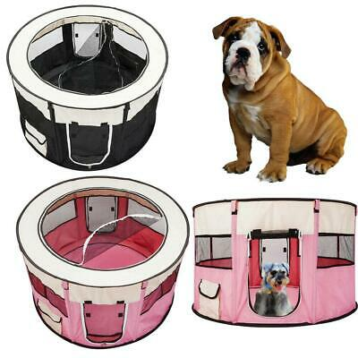 Small Trave Pet Dog Cat Tent Playpen Exercise Play Pen Soft Crate Outdoor Indoor