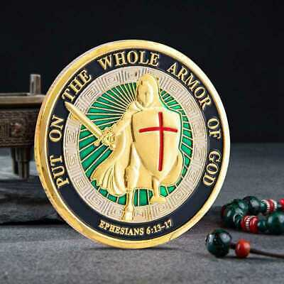 Of God On the Gift Coins Armor Coin Challenge Whole Put Commemorative Collection