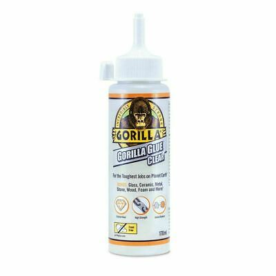 GORILLA GLUE CLEAR 170ML 🦍 Crystal-clear Non-foaming Adhesive 🦍 Invisible Fix