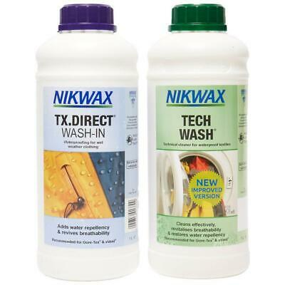 New Nikwax Tech Wash And Tx.Direct Twin Pack 1 Litre