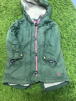 Girls parka coat Age 5 Fleece Lined By Joules