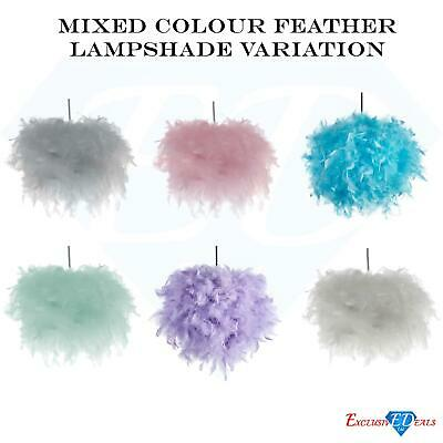 Coloured Feather Household Light Shade Lampshade Ceiling Pendant Variation