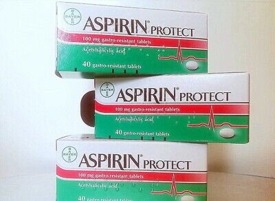 ASPIRIN PROTECT BAYER - For Healthy Heart - 40 Gastro Resistant Tablets