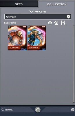 Topps Marvel Collect Ultimate Universe First Printing Iron Man And Angel Digital