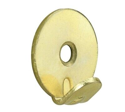 Heavy Duty Brass Plated Round Picture Hook Mirror Painting Frame Wall 1 Hole+S+R