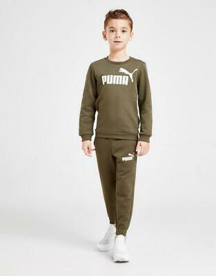 New Puma Boys' Logo Crew Suit